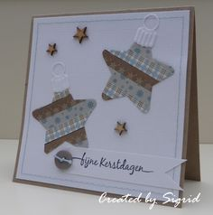 Card made by DT member Sigrid with Collectables Christmas Star (COL1360) and papertape by Marianne Design