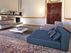 canapé italien de design modulable moderne en couleurs tendance