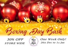 Boxing Day Bash! Our Sale starts on Monday for 1 week only! #saletime