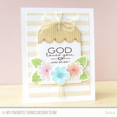 Cheerful Blessings, Modern Blooms, Pinstripe Background, Stripes Background, Blueprints 13 Die-namics, Modern Blooms Die-namics, Stitched Scallop Edges Die-namics, Tag Builder Blueprints 3 Die-namics - Torico  #mftstamps