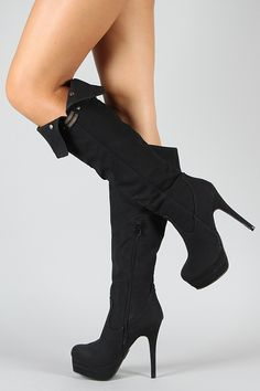 Lover-2 Cuff Round Toe Knee High Boot