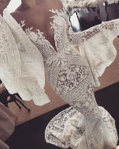 Bohemian wedding gown Off the shoulder long bell sleeve heavy full embellishment mermaid wedding dresses swept train - Hochzeit Sexy Wedding Dresses, Bridal Dresses, Wedding Gowns, Dresses Dresses, Sexy Reception Dress, Dresses Online, Lace Weddings, Party Dresses, Wedding Ceremony