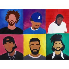 Rappers painting - Jcole Chancetherapper Kendrick drake the weekend. Cute Easy Paintings, Cute Canvas Paintings, Acrylic Painting Canvas, Cartoon Painting, Cartoon Art, Painting & Drawing, Easy Canvas Art, Small Canvas Art, Cavas Art