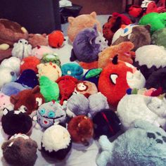 Squishables awaiting their photo shoot! Can you spot the new prototypes? #squishable  #plush  #photography   #new