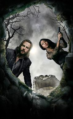 "Nicole Beharie as Abbie Mills and Tom Mison as Ichabod Crane from the TV show ""Sleepy Hollow."" Photo credit: Fox Network.   #sleepyhollow"