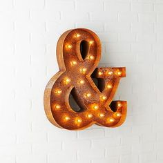 Marquee Light - Ampersand #westelm For above fireplace mantle?