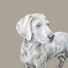 Justine Osborne - Weimaraner Pet Portrait, Dog Portrait, Animal Art,