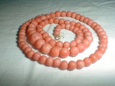 vintage angel skin coral necklace 14 by qualityvintagejewels
