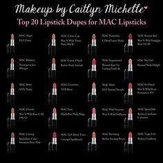 Mac Lipstick Dupes #lipstick #fashion girls ashleys fab jewelry