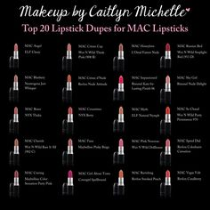 Mac Lipstick Dupes #lipstick #fashion #girls ashleys fab jewelry