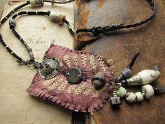 the mystic maze - primitive silk cloth talisman.. $61.00, via Etsy.