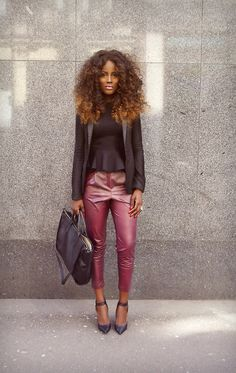 cute outfit, but the hair *and* the BEAT face are stealing ALL of the attention.