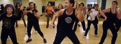 Zumba® is Colombian slang that means to move fast and have fun. The aerobic workout is famous for its Latin-inspired dance steps - Salsa, Merengue, Flamenco and Samba.        Read more: http://www.fitnessrepublic.com/fitness/zumba/history-zumba.html