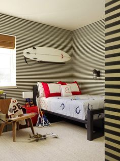 Black and White striped walls