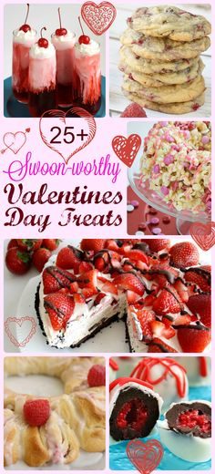 A lovely collection of Valentines Day treats and sweets! I love how easy they all are to make. From Butter With A Side of Bread