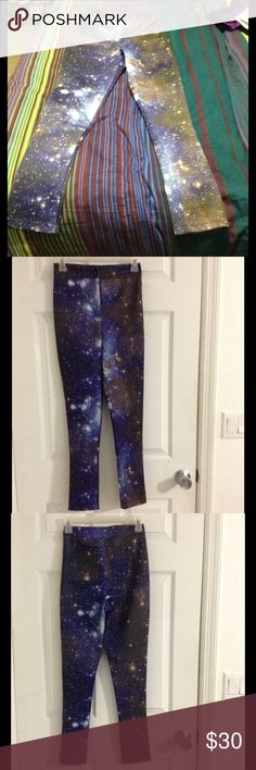 """Galaxy printed pants Brand new and unworn. Measurements (flat) : waist 13"""" 