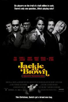 """""""Jackie Brown"""" (1997) - A film directed by Quentin Tarantino. Presented by Miramax Films; Produced by A Band Apart. U.S.A."""