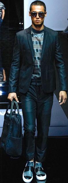 Emporio Armani SS 2015 Men's Fashion of the future