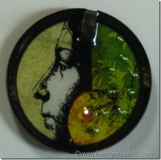 One of my favorite brad pendant charms.  By Suzanne Glazier www.PennywiseArts.com