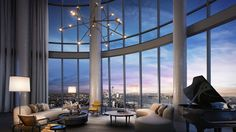 This Swanky New York City Penthouse Is on the Market for $32 Million – Robb Report New York Penthouse, Luxury Penthouse, Luxury Apartments, New York Apartment Luxury, Manhattan Penthouse, Penthouse Suite, Luxury Condo, Dream Home Design, Modern House Design