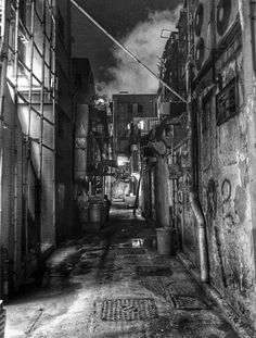 A damp and dark alley in Hong Kong (iPhone 6+)