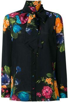 836f7e94a71 Gucci Pictoral Bouquet print blouse Gucci Floral
