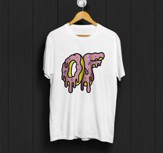 Odd Future OF Donut White T-Shirt Unisex Size S to XL #Unbranded #ShortSleeve