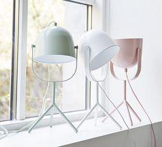 Monty lamp by Flexa. Love the sleek design and soft colors Interior Lighting, Home Lighting, Lighting Design, Luminaire Design, Lamp Design, Light Table, Lamp Light, Pastel Interior, I Love Lamp