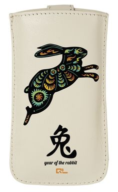 Rabbit Chinese Zodiac Leather Phone Case (available for iPhone 4/4S/5, HTC One X/V, Samsung Galaxy S3