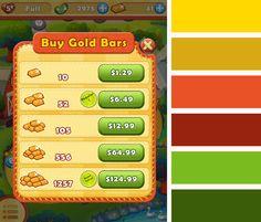 King - Farm Heroes Saga - Color in Game UI