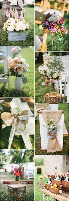 rustic country garden wedding ideas- outdoor backyard wedding decors | Deer Pearl Flowers
