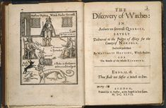 Discovery of Witches - by Matthew Hopkins