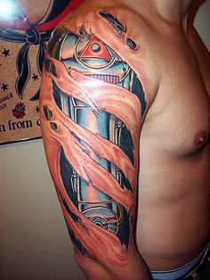 Robot arm Tattoo by Brian Massey