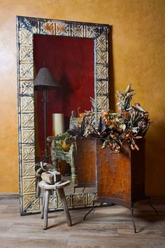 Home furnishings and décor for Southwest living. Tuscan Style Homes, Hacienda Style, Spanish Colonial, Old World Charm, Decorative Accessories, Home Furnishings, Rustic, Oversized Mirror, Goal