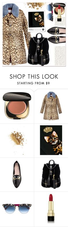 """""""Feline Fashion with Leopard coat !"""" by dragananovcic ❤ liked on Polyvore featuring Dolce&Gabbana, Valentino, Polaroid, Kate Spade, Yves Saint Laurent and Fendi"""