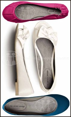 Comfortable Wedding Shoes & Wedding Flats: Dessy Pleated Satin Ballet Flats (Tutti Frutti)  Dessy Peep Toe Bridal Ballet Flats (Ivory)  Dessy Simple Satin Ballet Flats (Ivory)