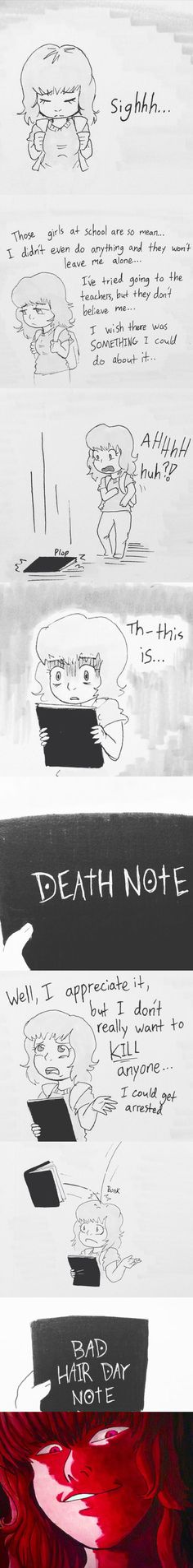Tags: Death Note, bad hair day