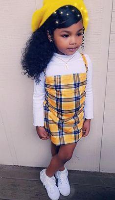 Cute Mixed Babies, Cute Black Babies, Black Baby Girls, Beautiful Black Babies, Cute Little Girls Outfits, Kids Outfits Girls, Toddler Girl Outfits, Little Girl Swag, Kid Outfits
