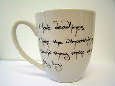 Douglas Adams quote mug