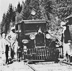 CPR M600 a Ford Model B Truck Carried Passengers in Summer for Years on a 33 Mile Long Isolated Branch of the Railway Between Lardo and Gerrarb, B.C. Early 1930,s