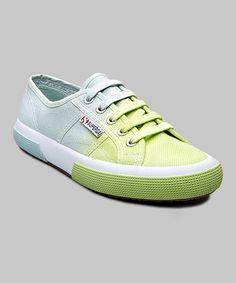 Lavender & Acid Green Cotu Shade Sneaker - Women