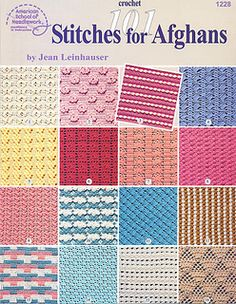 Ravelry: American School of Needlework #1228, 101 Stitches for Afghans - patterns