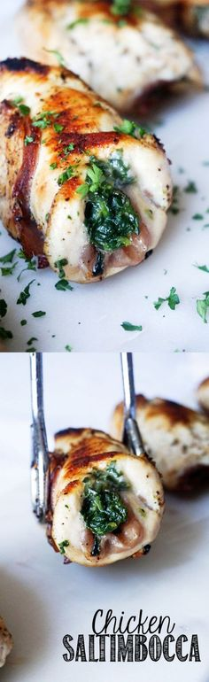 Easy Keto Chicken Saltimbocca - Stuffed Chicken!