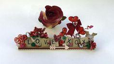 Valentine Gift of LOVE XOX Valentine Theme Scrabble Art