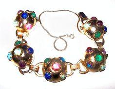 #Gripoux #LinkBracelet #PastelArtGlass #jewelry #fashion #vintage by BrightgemsTreasures