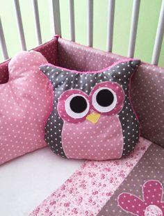 Coussin chambre enfant - Thème chouette (ou Hibou) : Chambre d'enfant, de bébé par babyjoys