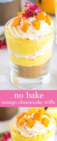 Creamy mango cheesecake, freshly whipped cream and topped with fresh mangoes, what's not to love? The perfect no bake summer dessert. By @cookwithmanali