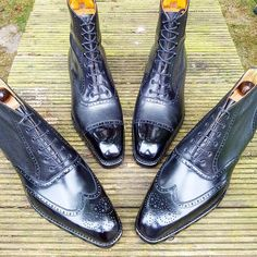 Ascot Shoes — Having a plain #captoe like the boots in the back...