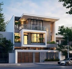 Everyone has ideas about their dream house. For planning on your cool house, you may also want to check out cool house House Outer Design, Unique House Design, House Front Design, Bungalow Haus Design, Duplex House Design, 3 Storey House Design, Architecture Design, House Architecture Styles, Modern Exterior House Designs