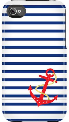 """""""Anchor Stripe"""" by Nautical for the iPhone 4/4S Capsule"""
